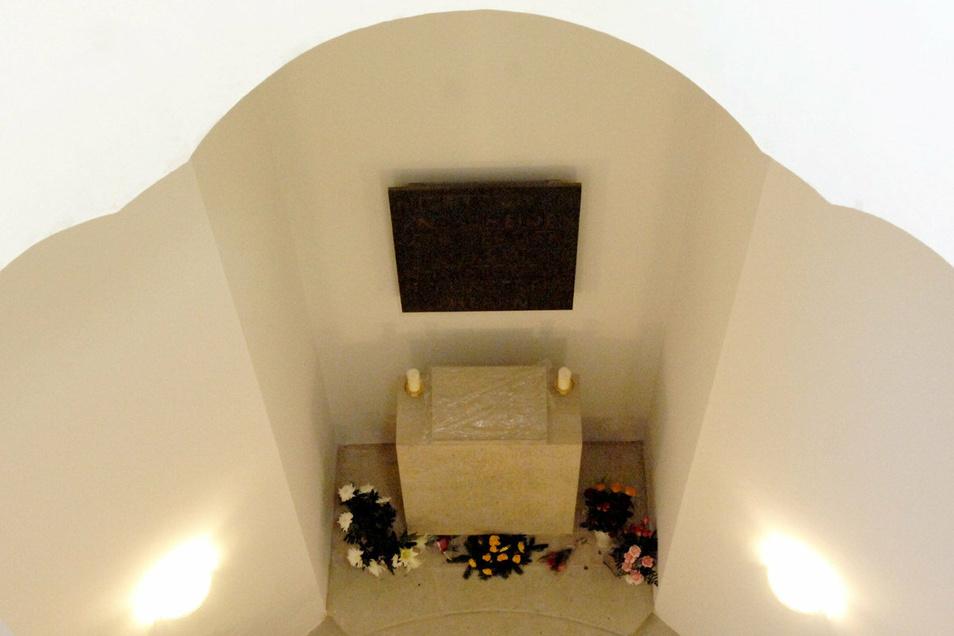 Die Gedenkstätte für die Opfer von Krieg und Gewaltherrschaft in der Marienkirche.