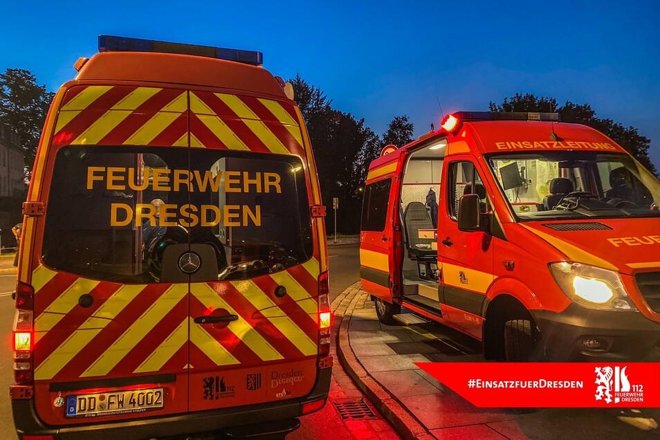 Die Feuerwehr war am Mittwochabend mit einem Großaufgebot am Bärenzwinger im Einsatz.