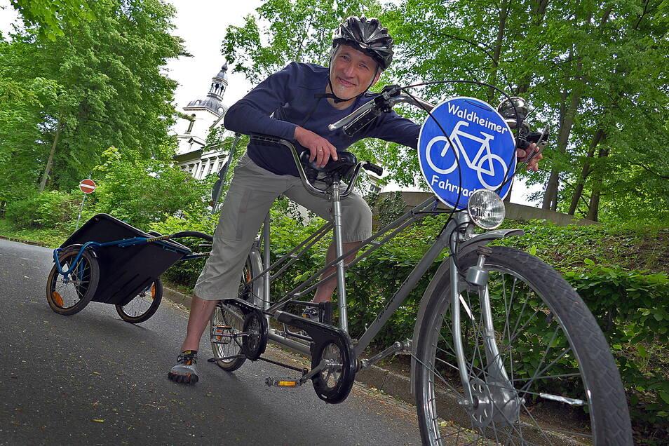 Pfarrer Reinald Richber freut sich schon auf den Fahrradtag.