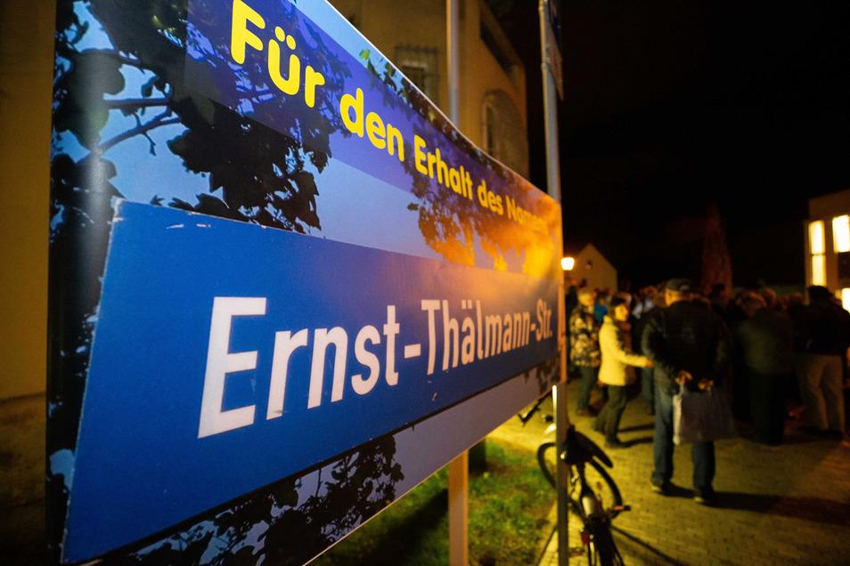 Der Kampf scheint sich gelohnt zu haben: Heidenau behält wohl seine Ernst-Thälmann-Straße.