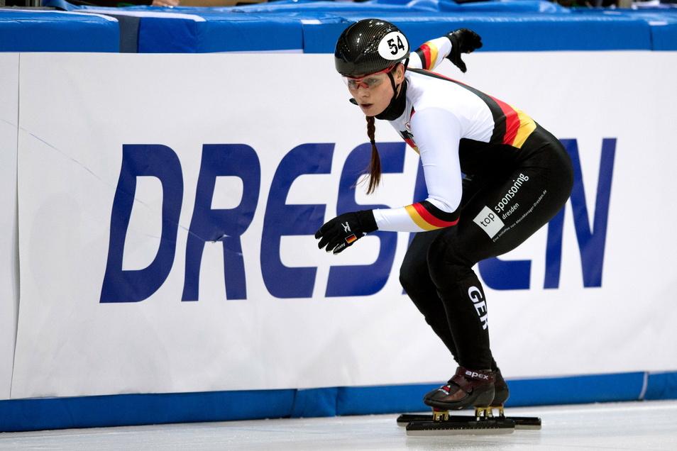 Die Dresdnerin Bianca Walter muss 2021 auf den Shorttrack-Weltcup in ihrer Heimatstadt verzichten.