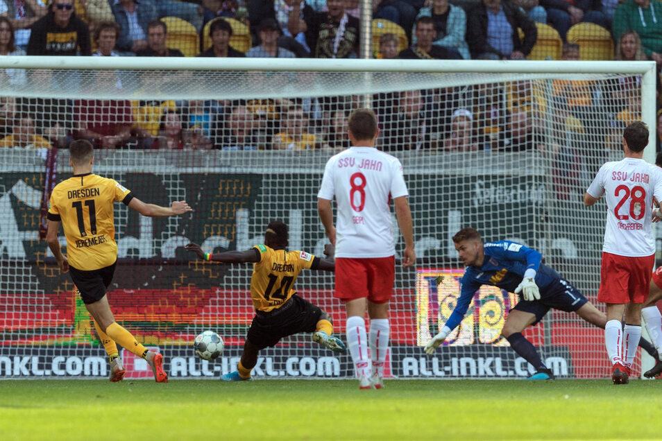 Moussa Kone gelang in der zweiten Halbzeit der zwischenzeitliche Ausgleich. Kurz vor dem Ende schoss Florian Ballas die Kugel aus 18 Metern ins Netz.