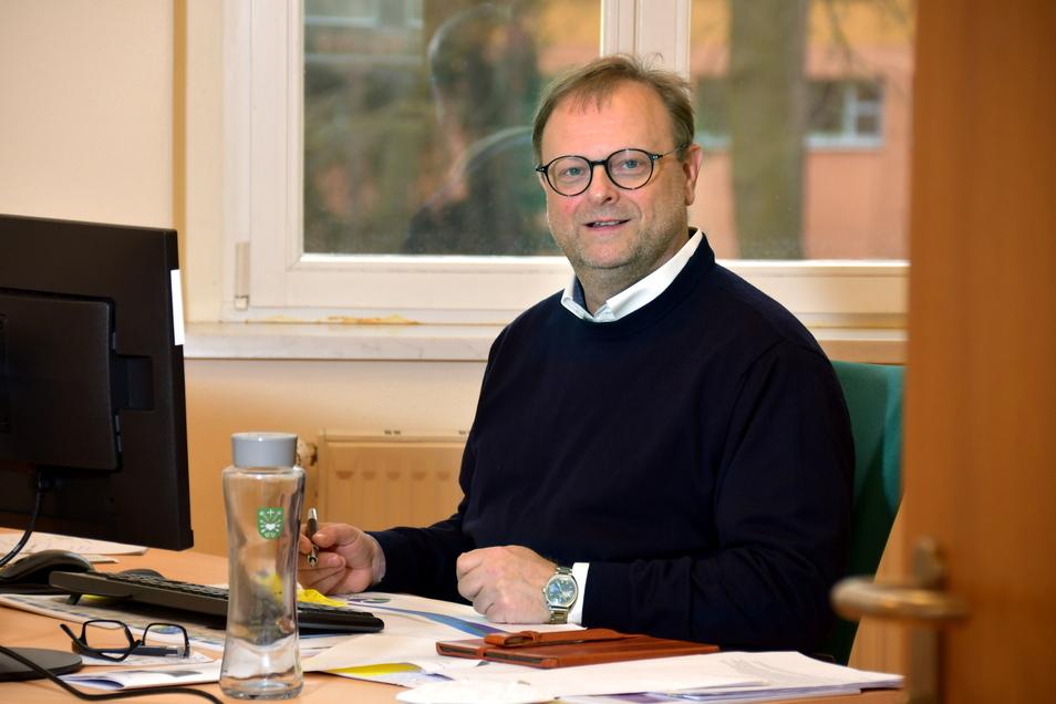 Thilo Richter ist Leiter des neuen Bürgeramtes in der Gemeinde Ottendorf-Okrilla.