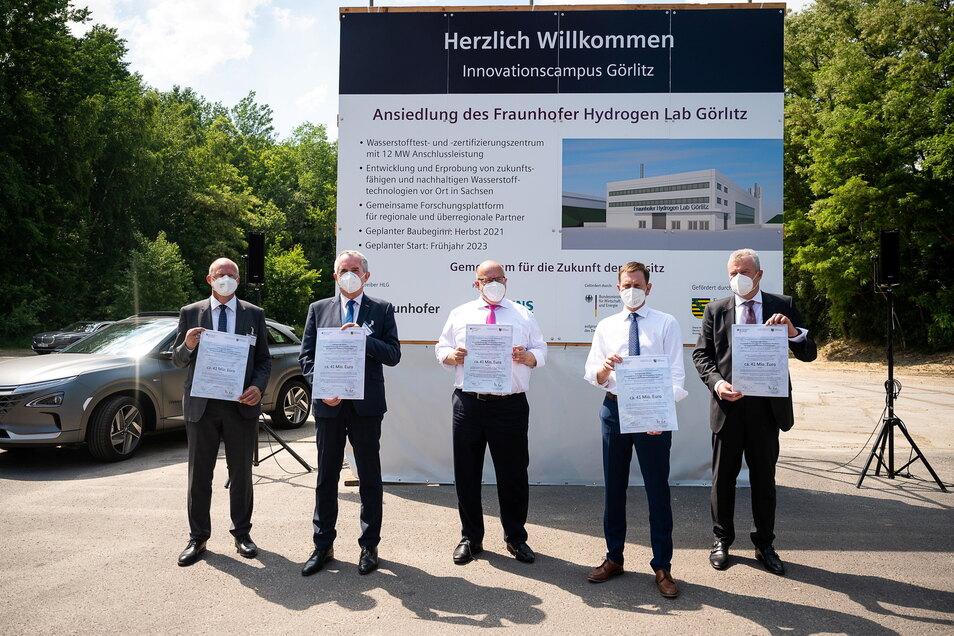 Noch gibt es so viel nicht zu sehen beim Hydrogen Lab Görlitz. Im westlichen Bereich von Siemens Energy wird es jetzt aufgebaut.