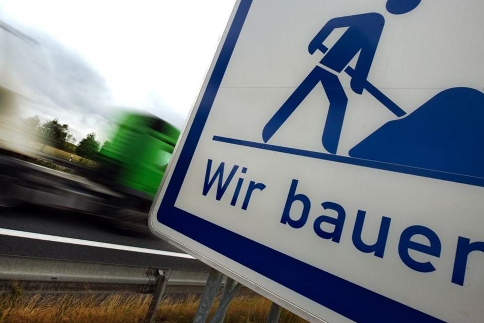 Auf der A4 bei Bautzen wird derzeit gebaut.