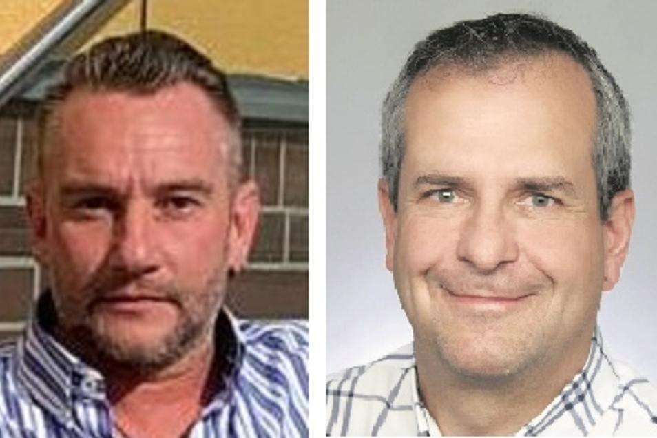 Zimmerermeister Mathias Lampe (44/AfD) aus Schleife und der amtierende Bürgermeister Hans-Jörg Funda (55/CDU) aus Rohne stellen sich der Wahl.