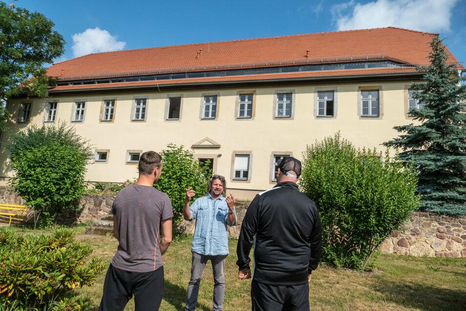 Michael Köste (Leiter) leitet das Projekt Zwischenstopp in Bockelwitz bei Leisnig.