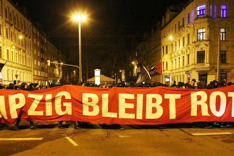 Leipzig ist dafür bekannt, dass der Protest in Gewalt umschlagen kann.