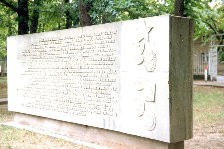Die Rückseite des Denkmals.