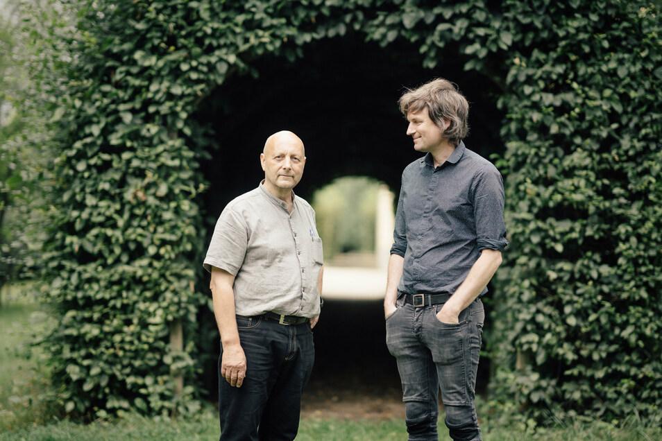 Einer holt die Kunst ins Schloss, einer macht sie: Joachim Mühle (l.) und Jens Rausch.