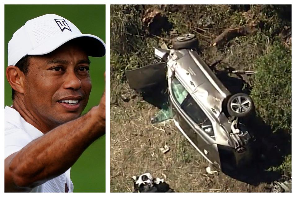 Tiger Woods wurde bei einem Autounfall schwer verletzt.