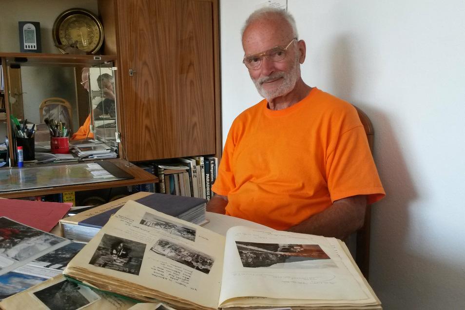 Organisierte die Klettertreffen auf der Pirnaer Seite: Klaus Jäschke vom Sonnenstein. Trotz seiner 81 Lenze ist er noch immer sechs Monate im Jahr auf Abenteuerurlaub.