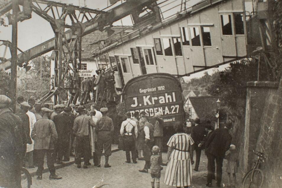 Unfälle gab es auf dem Veilchenweg immer mal wieder - und doch überraschend selten. Hier 1931.