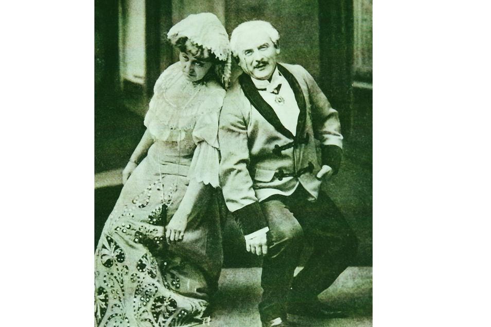 """Frau Luschek und Herr Norden galten um 1920 als Görlitzer Theater-Lieblinge in der Inszenierung """"Ein Walzertraum""""."""
