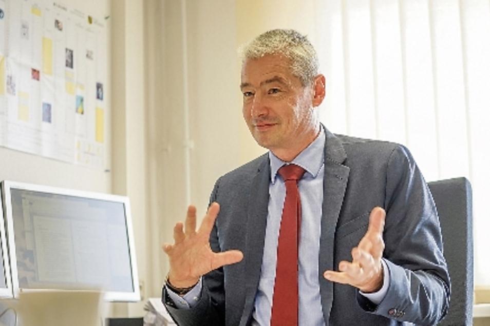 Jens Drummer ist Sprecher des Landesamts für Schule und Bildung am Standort Bautzen.