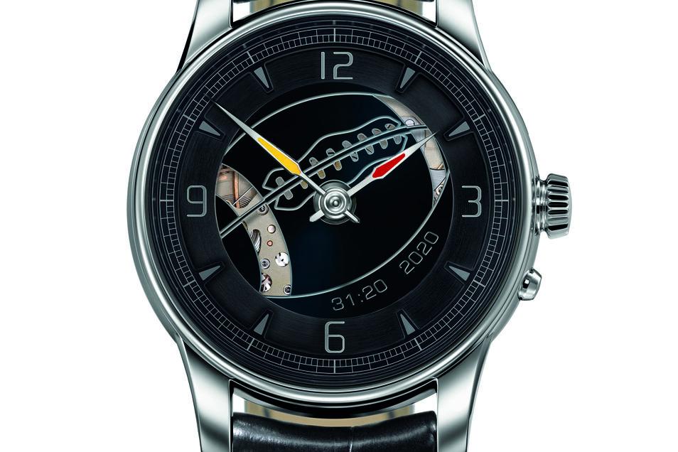 Mit dieser Uhr erinnert der Glashütter Uhrenhersteller Moritz Grossmann an den Super Bowl 2020.