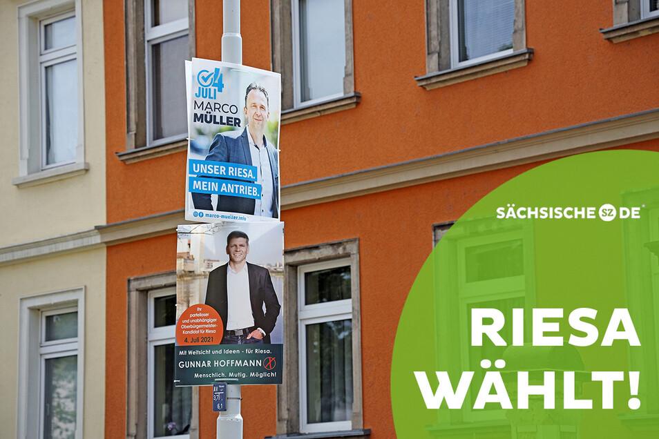 Bis zur OB-Wahl in Riesa am Sonntag sind es nur noch wenige Tage. Am Sonntag entscheiden die Riesaer Wahlberechtigten, wer aus dem Duell Marco Müller (CDU, oben) gegen Gunnar Hoffmann (parteilos, unten) siegreich hervorgeht.