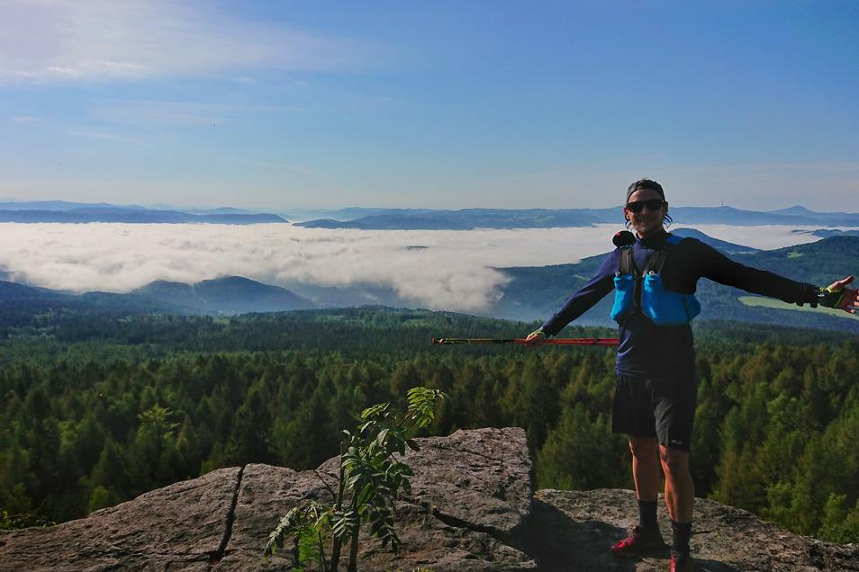 Rekord am Forststeig: Stefan Utke läuft den 108 Kilometer langen Forststeig Elbsandstein an nur einem Tag.