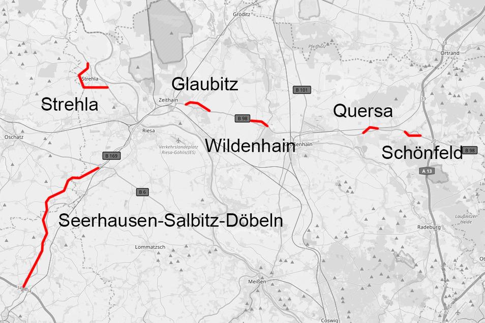 Sechs Strecken, sieben Projekte, überall ein Ziel: Die Bundesstraßen-Vorhaben in der Region sollen nach Ansicht vieler endlich gebaut werden.
