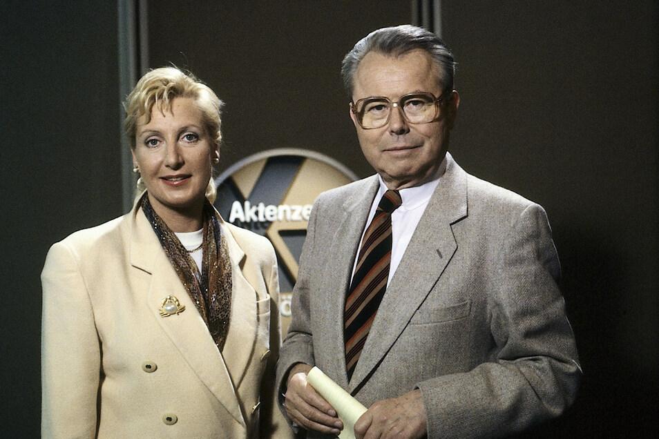 Sabine Zimmermann und ihr Vater Eduard Zimmermann im Jahr 1994.