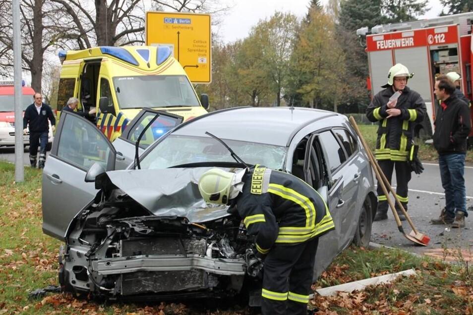 Das Kräfteverhältnis bei diesem Unfall am Dienstagmorgen war nicht zugunsten einer 64-Jährigen: