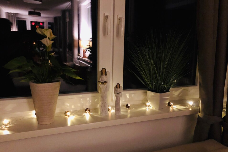 Ruhe und Entspannung - die weihnachtliche Dekoration leutet die weihnachtliche Stimmung ein.