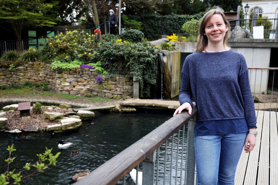 Janina Kraemer leitet seit 3. Mai offiziell den Riesaer Tierpark.