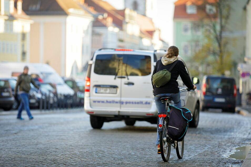 Fahrradfahren ist in Görlitz beliebt - aber nicht immer sicher.