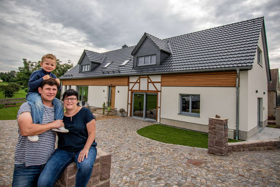 Seit einem Jahr leben Stefan Damm und Ulrike Richter mit Sohn Vincent in ihrem neuen Heim in Marbach, das einmal eine Scheune war. Diese Umnutzung alter Bausubstanz zu Wohn- und in diesem Fall zudem zu Gewerbezwecken hat die EU unterstützt.