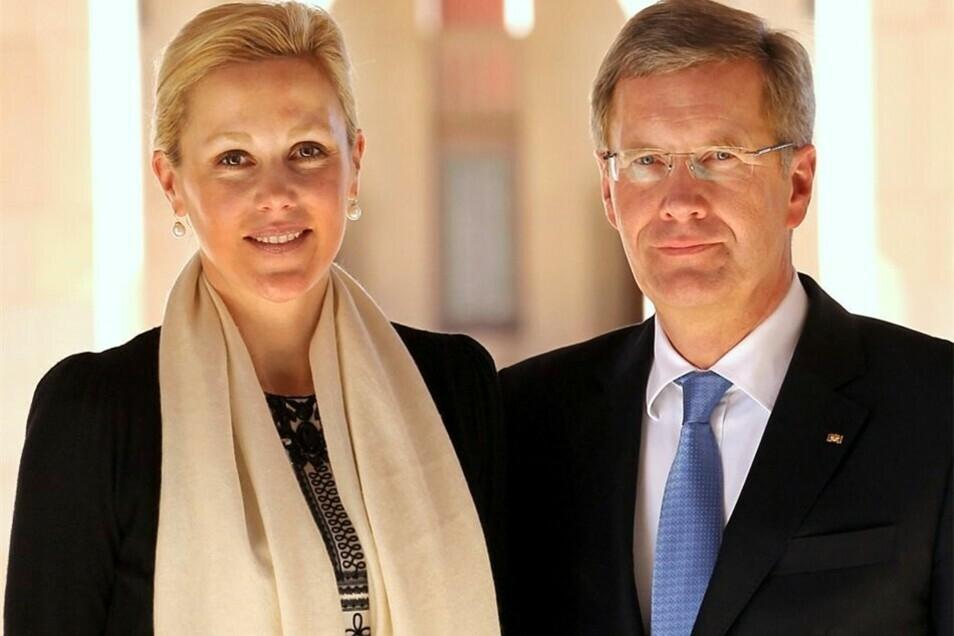 Das Archivfoto zeigt Bettina und Christian Wulff, als sie verheiratet waren.