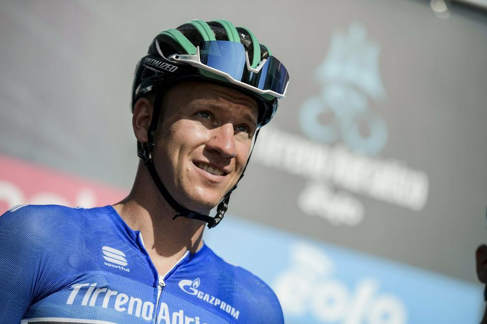 Pascal Ackermann freut sich nachträglich über seinen ersten Etappenerfolg bei der Spanien-Radrundfahrt.