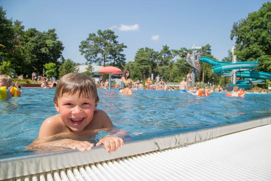 Trotz der wenigen Besucher in diesem Jahr kam der Badespaß bei den Gästen nicht zu kurz. Zumal auch das Wetter dafür sorgte.