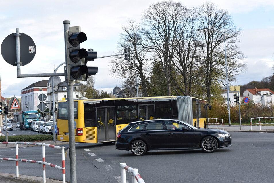 Ampel aus an der Poisentalstraße: Wie bereits Anfang November 2019, kam es auch am 13. September zum Stromausfall.