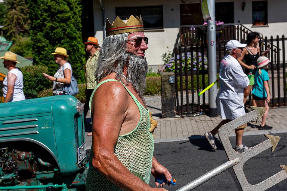Auch Poseidon schaute beim Festumzug vorbei.