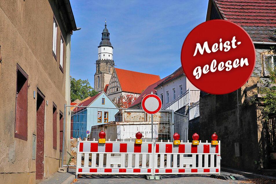 Endlich freie Fahrt in Sicht: An der Pulsnitzer Straße in Kamenz soll der Verkehr wieder rollen.