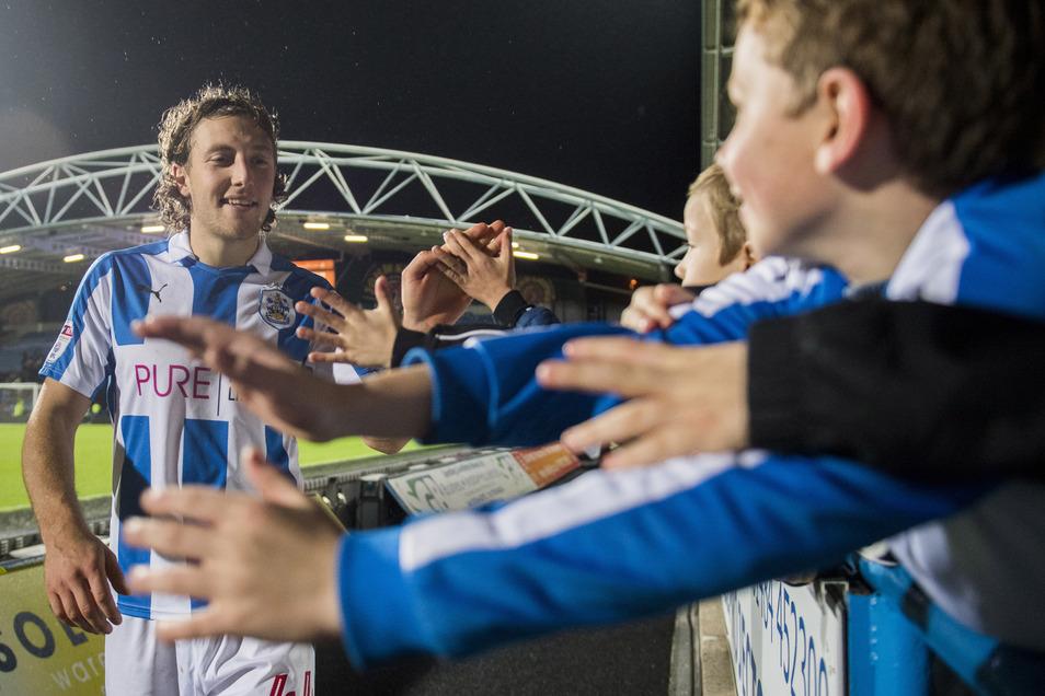 Bei den Huddersfield-Fans war Hefele beinahe genauso beliebt wie in Dresden.