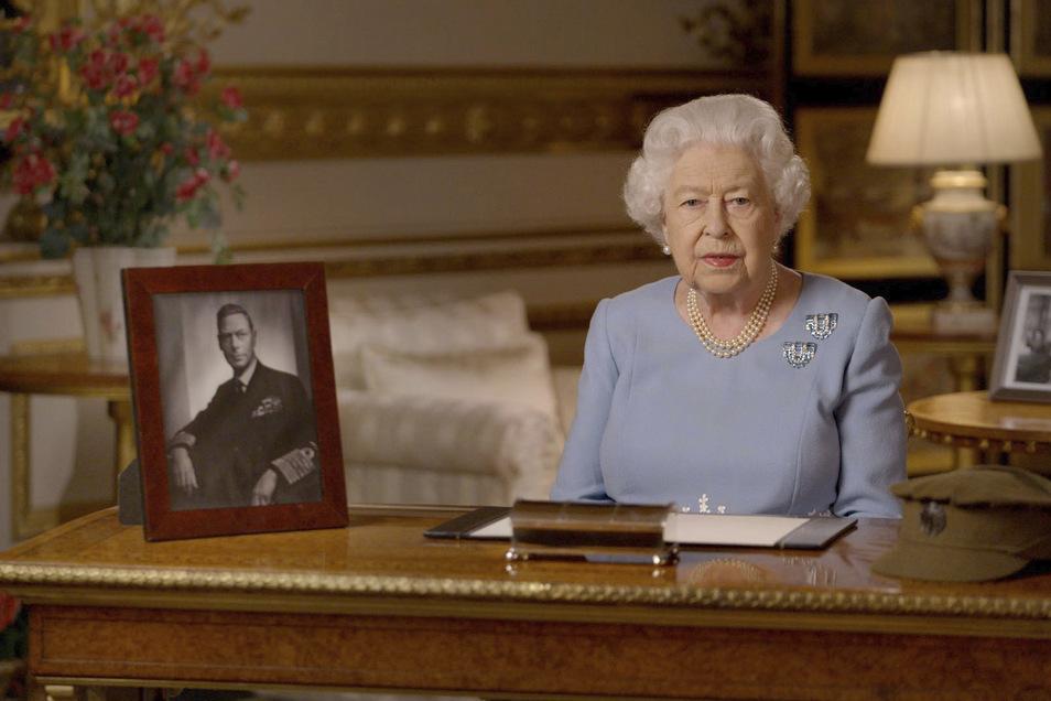 Königin Elizabeth II. hält zum Jahrestag des Endes des Zweiten Weltkriegs in Europa eine Ansprache.
