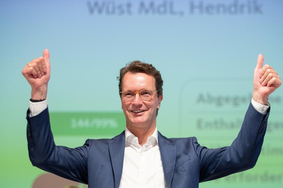 Hendrik Wüst (CDU), Verkehrsminister des Landes Nordrhein-Westfalen, gilt als Favorot für die Nachfolge von Armin Laschet als Ministerpräsident und Landes-CDU-Chef.