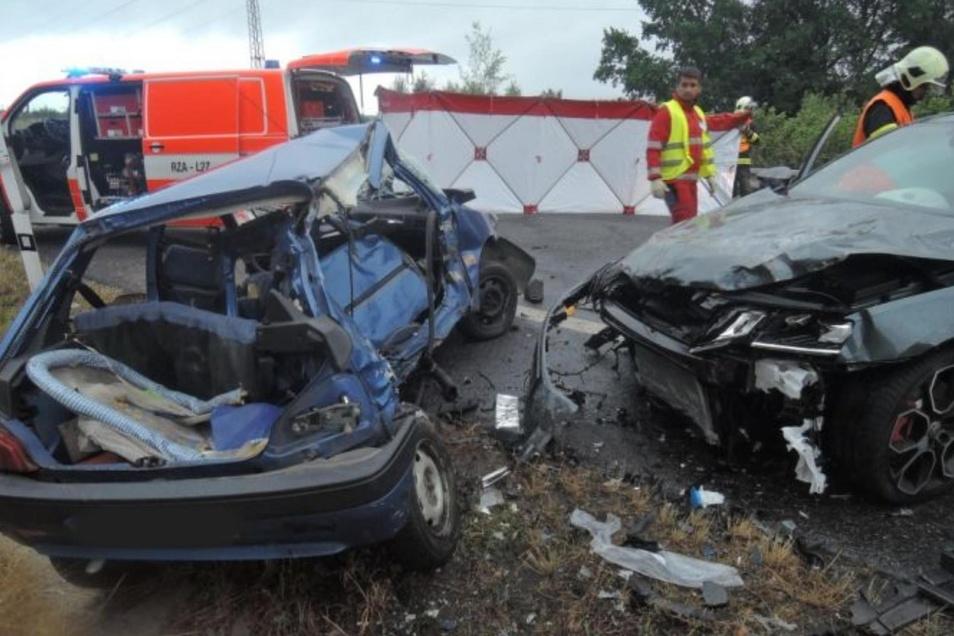 Ein Bild von der Unfallstelle in Krásna Studánka.