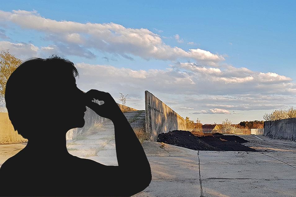 Kurzzeitig wurde im April im ehemaligen Kuppritzer Silo Klärschlamm eingelagert. Die Anwohner klagen über Gestank und Insekten.