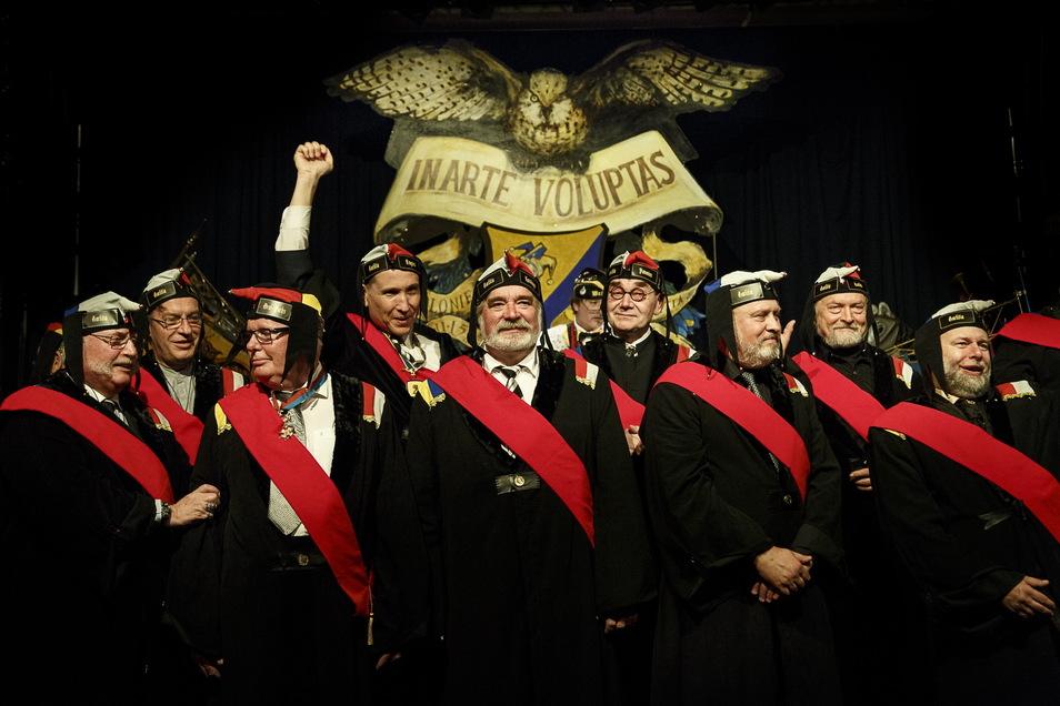 Die Görlitzer Schlaraffen bei einem Treffen in der Kulturbrauerei vor einigen Jahren.