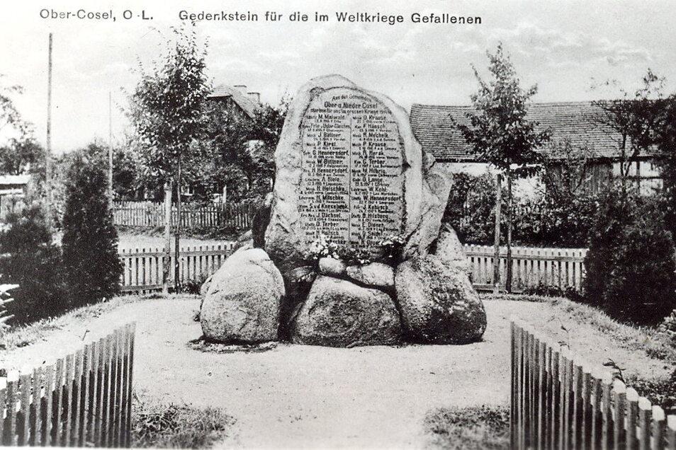 Vor 100 Jahren wurde der Gedenkstein für die Koseler Soldaten, die im Ersten Weltkrieg gefallen sind, eingeweiht.