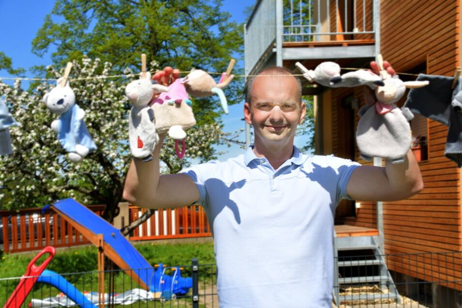 Thomas Luding ist einer der beiden Gründer von Burmeister & Luding, die mit dem Kinderhaus Wolkenstein nun ihre siebte Einrichtung in der Region eröffneten.