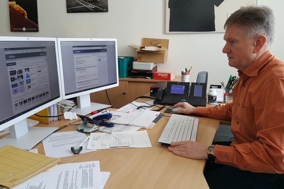 Steffen Schmieder leitet das Betrugskommissariat der Polizeidirektion Dresden, die auch für den Kreis Meißen zuständig ist.