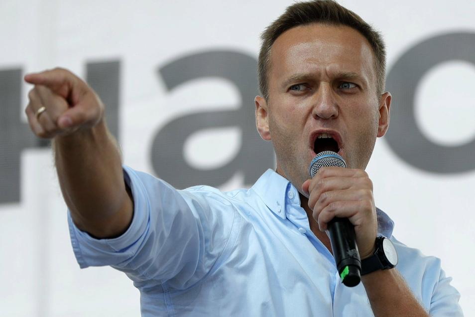Alexej Nawalny kritisierte das Vorgehen der Polizei scharf.
