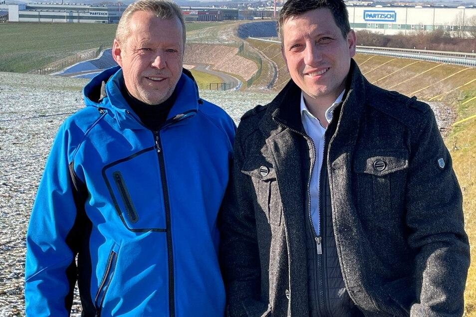 Die FDP-Stadträte Peter Draßdo (links) und Rocco Werner fordern eine Stelle für einen Mitarbeitern in der Stadtverwaltung, der ausschließlich für Wirtschaftsförderung zuständig ist.