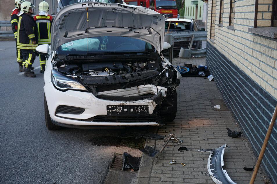 An der Ampelkreuzung in Königswartha hat sich am Mittwochmorgen ein Unfall ereignet.