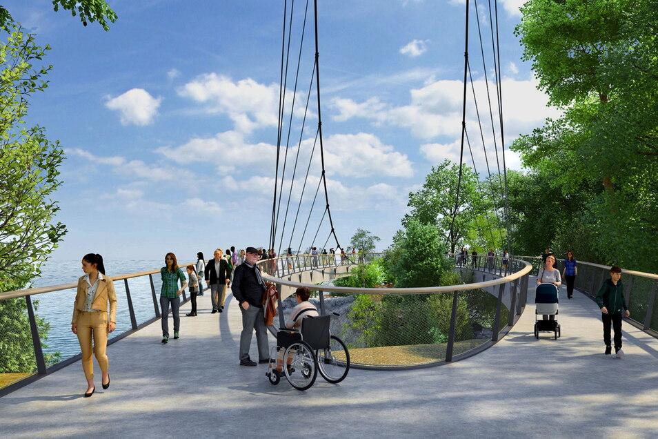 Knapp 2.000 Personen wird die neue Aussichtsplattform tragen können. Die Hängekonstruktion wird eine Länge von 185 Metern haben.