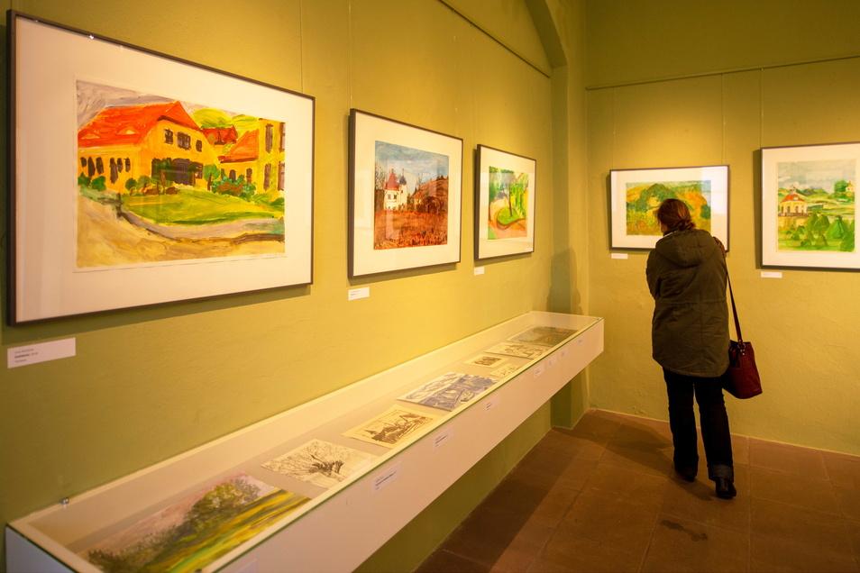 Im ehemaligen Kavaliers- und Bergverwalterhaus sind Bilder von zehn langjährigen Teilnehmern der Kurse von Malerin und Grafikerin Mechthild Mansel zu sehen.