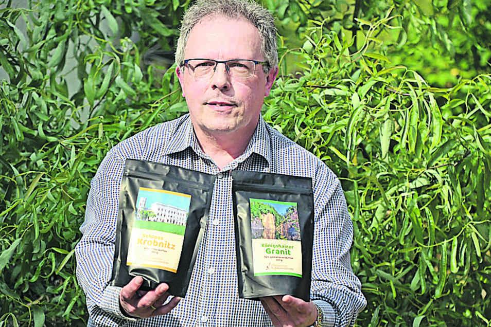 Klaus Jürgen Beil spendet mit jedem verkauften Kaffee Geld an den Museumsverbund.